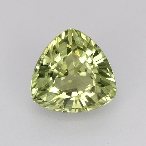 Green Sapphire Gem - 0.5ct Trillion Facet (ID: 515792)