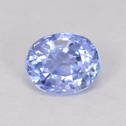 0.49 ct Oval Facet Pastel Blue Sapphire Gemstone 4.95 mm x 4.1 mm (Product ID: 517691)