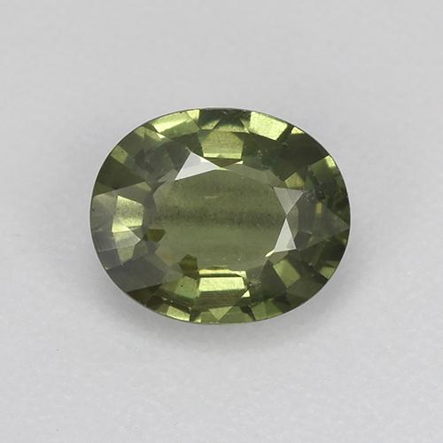 Green Sapphire Gem - 0.8ct Oval Facet (ID: 517963)