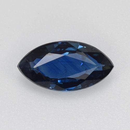 Blue Sapphire Gem - 0.7ct Marquise Facet (ID: 520326)