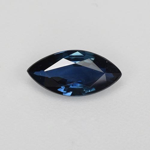 Night Blue Sapphire Gem - 0.6ct Marquise Facet (ID: 520890)