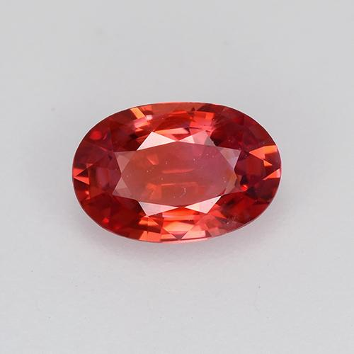 0.6ct Oval Facet Medium Red Sapphire Gem (ID: 522146)