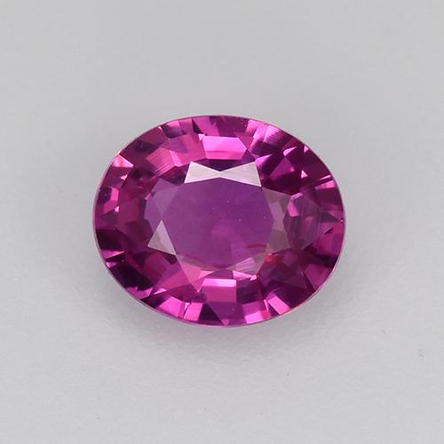 Purple Pink Sapphire Gem - 0.5ct Oval Facet (ID: 522153)