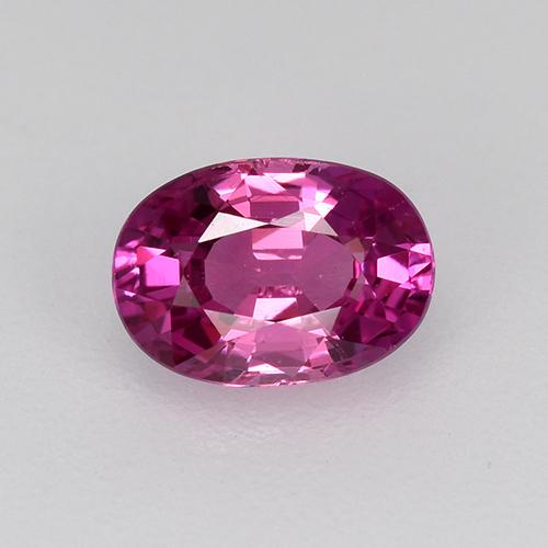 Purple Pink Sapphire Gem - 0.6ct Oval Facet (ID: 522156)