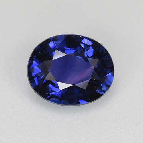 Blue Sapphire Gem - 0.8ct Oval Facet (ID: 522246)