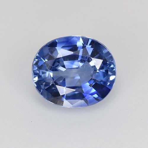Medium Dark Blue Zaffiro Gem - 0.8ct Ovale sfaccettato (ID: 522251)