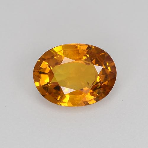 Earth Orange Zafiro Gema - 0.8ct Forma ovalada (ID: 522254)