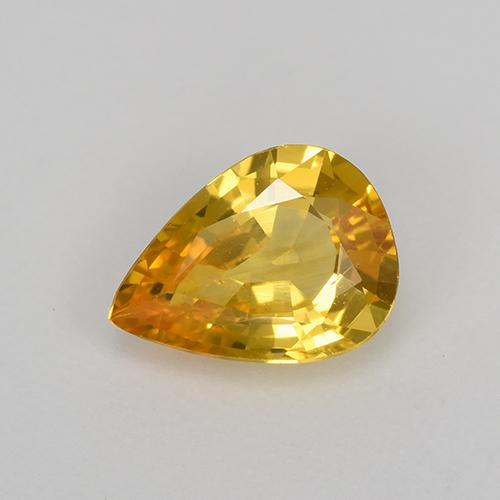 Yellow Golden Sapphire Gem - 0.8ct Pear Facet (ID: 522256)
