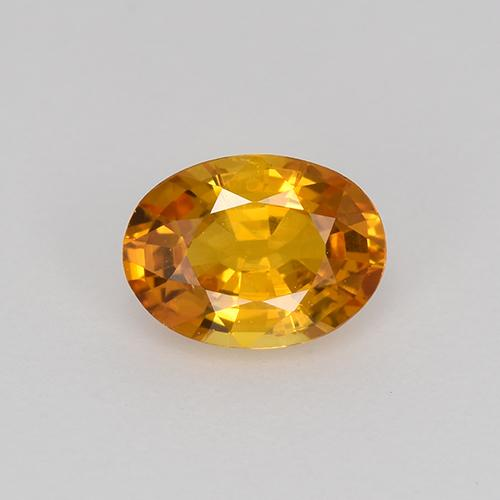 Earth Orange Sapphire Gem - 0.7ct Oval Facet (ID: 522258)