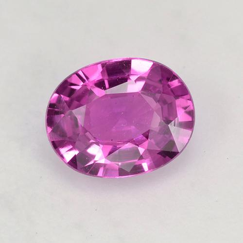 Purple Pink Sapphire Gem - 0.7ct Oval Facet (ID: 522912)