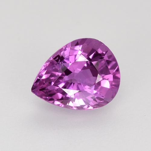 Purple Pink Sapphire Gem - 0.7ct Pear Facet (ID: 523015)
