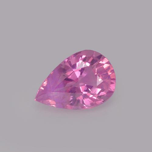 Royal Purple Pink Sapphire Gem - 0.7ct Pear Facet (ID: 523647)