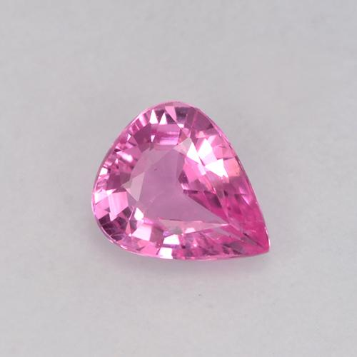 Pink Sapphire Gem - 0.6ct Pear Facet (ID: 523651)
