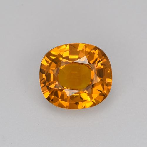 Deep Orange Sapphire Gem - 0.7ct Cushion-Cut (ID: 523744)