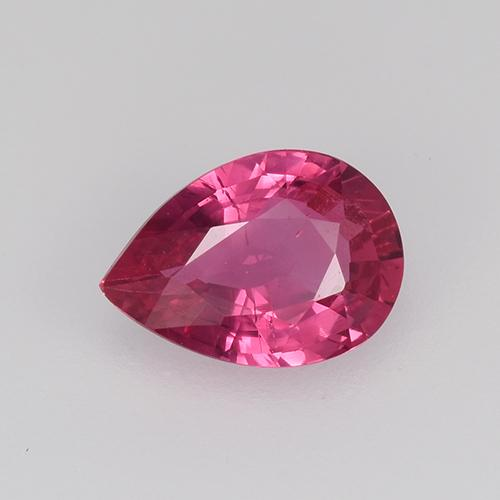 Light Red Sapphire Gem - 0.6ct Pear Facet (ID: 523853)
