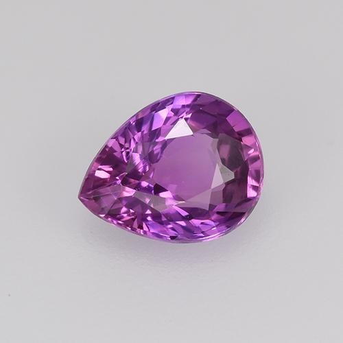 Medium Purple Sapphire Gem - 0.7ct Pear Facet (ID: 524052)