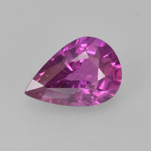 Pinkish Purple Sapphire Gem - 0.7ct Pear Facet (ID: 524111)