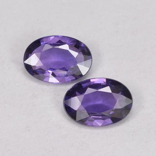 Grape Violet Sapphire Gem - 0.4ct Oval Facet (ID: 524902)