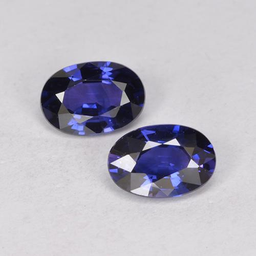 Twilight Blue Sapphire Gem - 0.6ct Oval Facet (ID: 524904)