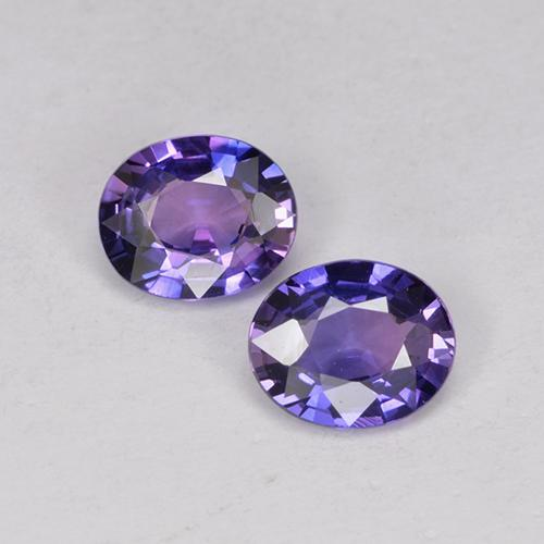 Purple-Pink Sapphire Gem - 0.5ct Oval Facet (ID: 524909)