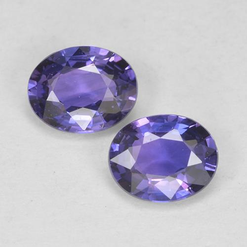 Intense Violet Blue Sapphire Gem - 0.4ct Oval Facet (ID: 525058)