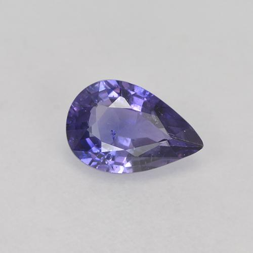 Medium Violet Sapphire Gem - 0.7ct Pear Facet (ID: 525173)