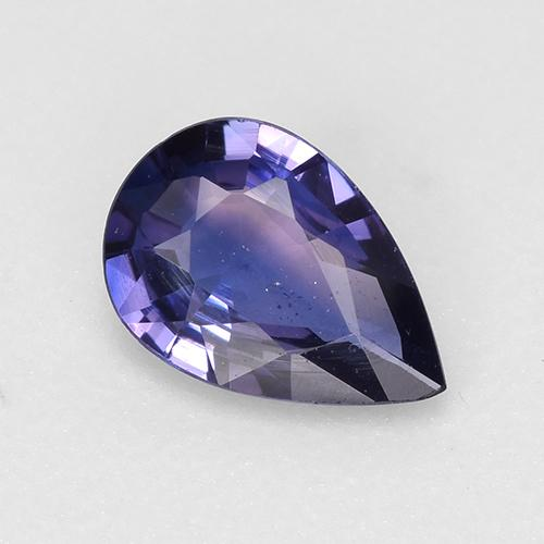 Midnight Blue Sapphire Gem - 0.5ct Pear Facet (ID: 525376)