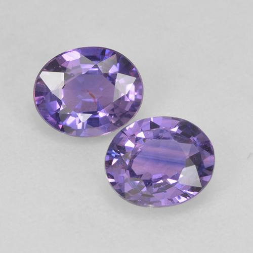 Light Pinkish Violet Sapphire Gem - 0.5ct Oval Facet (ID: 525584)