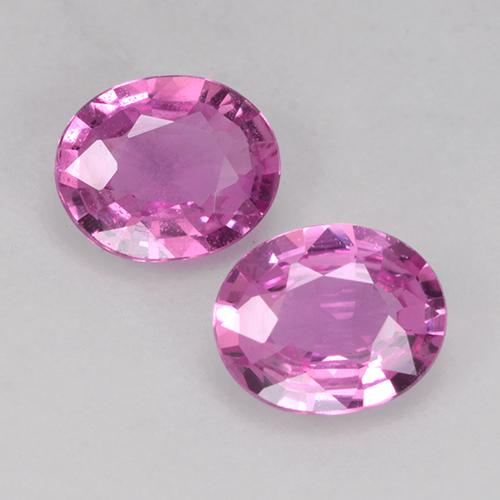 Medium Pink Sapphire Gem - 0.6ct Oval Facet (ID: 526026)