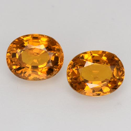 Orange Yellow Sapphire Gem - 0.7ct Oval Facet (ID: 526515)