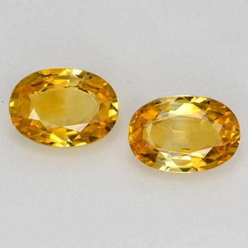 Deep Golden Orange Sapphire Gem - 0.6ct Oval Facet (ID: 526516)