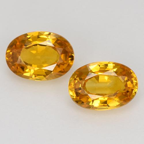 Medium Orange Zafiro Gema - 0.7ct Forma ovalada (ID: 526518)