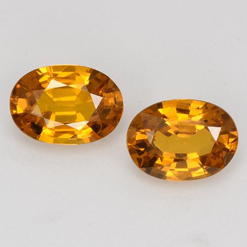 Orange Yellow Sapphire Gem - 0.6ct Oval Facet (ID: 526524)