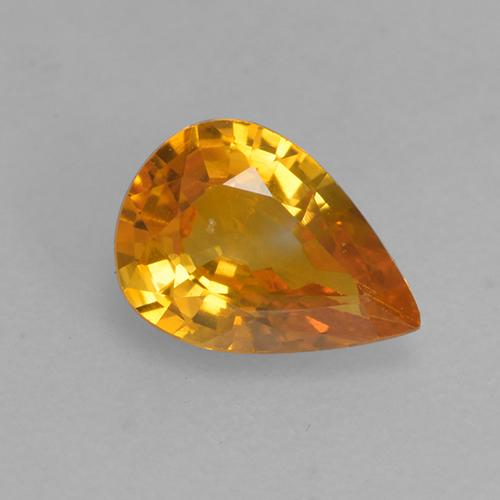 Dark Orange Sapphire Gem - 0.5ct Pear Facet (ID: 526834)
