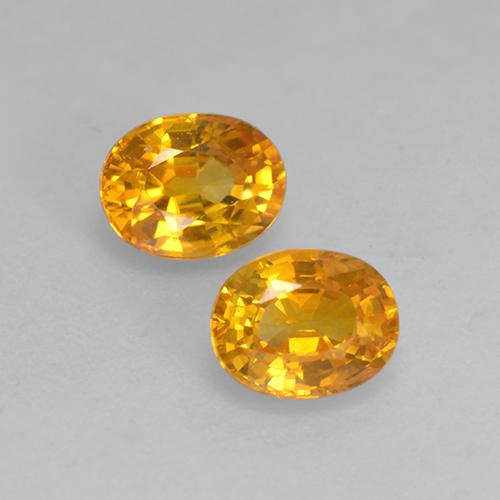 Yellow Golden Sapphire Gem - 0.6ct Oval Facet (ID: 526836)
