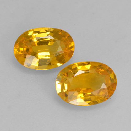 Yellow Golden Sapphire Gem - 0.5ct Oval Facet (ID: 526841)