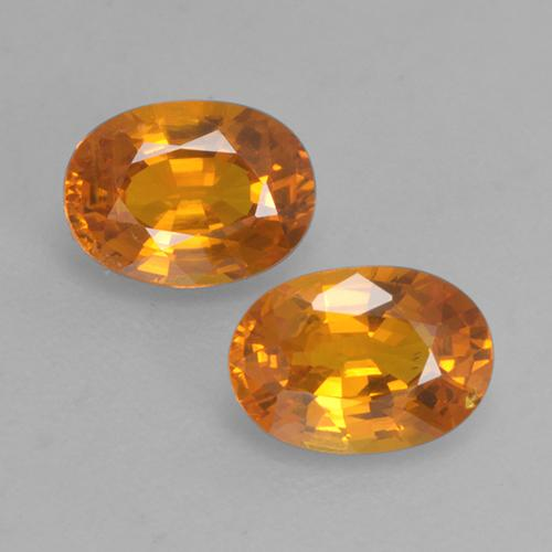Yellow Golden Sapphire Gem - 0.6ct Oval Facet (ID: 526842)