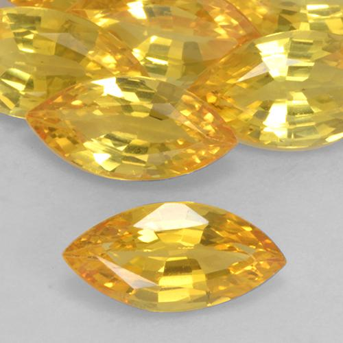 Yellow Golden Sapphire Gem - 1.1ct Marquise Facet (ID: 527423)