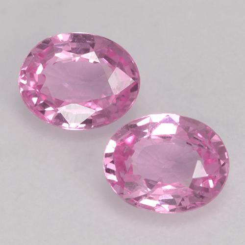 Very Light Royal Purple Pink Sapphire Gem - 0.4ct Oval Facet (ID: 527686)