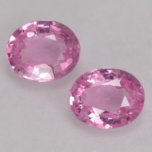Very Light Royal Purple Pink Sapphire Gem - 0.4ct Oval Facet (ID: 527690)