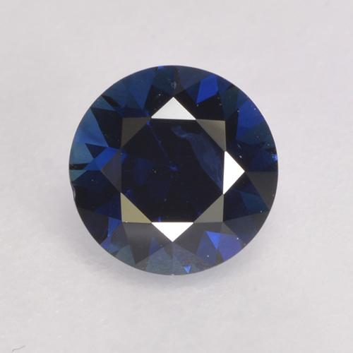 0.6ct Diamond-Cut Dark Blue Sapphire Gem (ID: 528160)