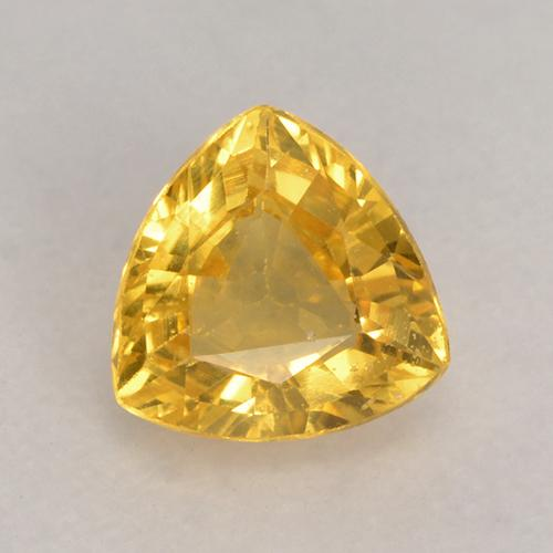 Golden Sapphire Gem - 0.6ct Trillion Facet (ID: 530621)