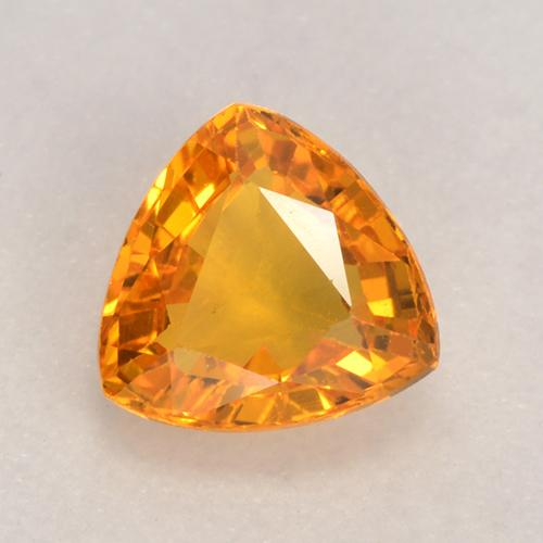 Dark Orange Zaffiro Gem - 0.7ct Sfaccettatura trilliant (ID: 530622)