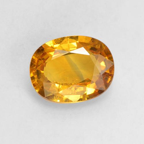 Gold Sapphire Gem - 1.6ct Oval Facet (ID: 532195)