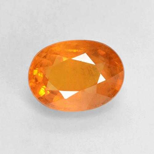 Amber Orange Sapphire Gem - 1.4ct Oval Facet (ID: 532196)