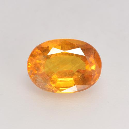 Orange-Gold Sapphire Gem - 1.2ct Oval Facet (ID: 532225)
