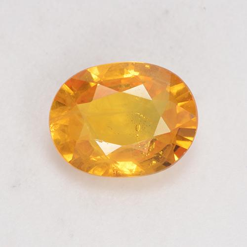 Orange-Gold Sapphire Gem - 1.4ct Oval Facet (ID: 532328)