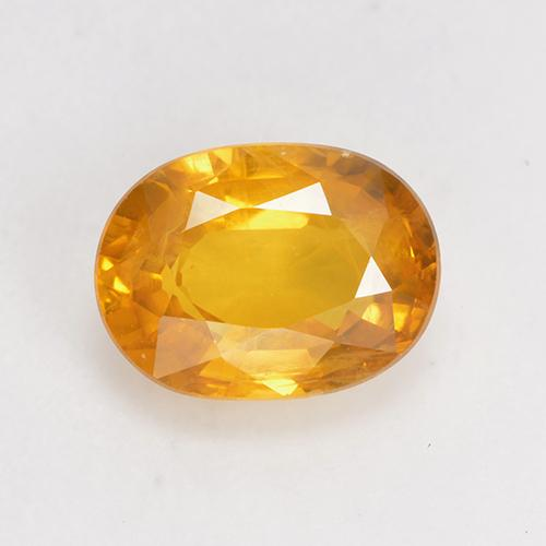 Medium Orange Sapphire Gem - 1.6ct Oval Facet (ID: 532331)