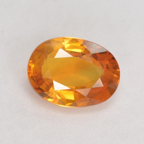 Medium Orange Sapphire Gem - 1.2ct Oval Facet (ID: 532499)
