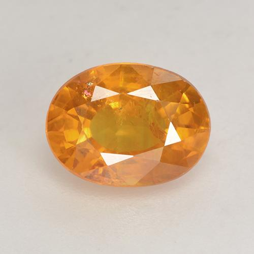Deep Orange-Gold Sapphire Gem - 1.9ct Oval Facet (ID: 532537)